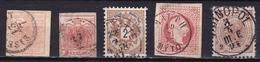 Osterreich /  Austria 1850 / 1899 5 Old Stamps As Shown On Scan - Gebruikt