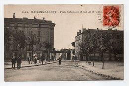 - CPA MAISONS-ALFORT (94) - Place Salanson Et Rue De La Gare 1917 (avec Personnages) - Photo-Edition Malcuit 5393 - - Maisons Alfort