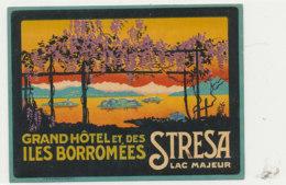 E H  700  / ETIQUETTE  D' HOTEL   GRAND HOTEL ET DES ILES BORROMEES  STRESA LAC MAJEUR - Hotel Labels