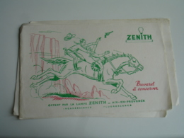 Lot 4 Lampe Ampoule Zenith Aix En Provence Illustration Dessin Buvard Buvards - Z