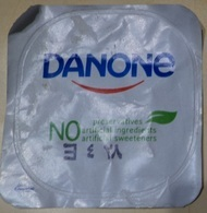 Egypt - Couvercle De Yoghurt  Danone English (foil) (Egypte) (Egitto) (Ägypten) (Egipto) (Egypten) Africa - Coperchietti Di Panna Per Caffè