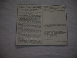 Adhemar Tempelaere (Lichtervelde 1877-Lichtervelde 1951);Godderis     - Gemeenteraadslid - Images Religieuses