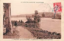 CPA 31 Haute Garonne Portet Sur Garonne Confluent De L'Ariège Et De La Garonne Pecheurs - Otros Municipios