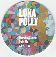 LOKA POLLY BEER  (BLACK BROOK, WALES) - MOSAIC SIMCOE PALE ALE - KEG CLIP FRONT - Uithangborden