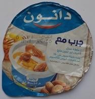 Egypt - Couvercle De Yoghurt Danone Arabic  (foil) (Egypte) (Egitto) (Ägypten) (Egipto) (Egypten) Africa - Coperchietti Di Panna Per Caffè