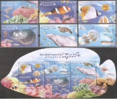 China Hong Kong 2019 Underwater World Of HK/Fish & Marine Life (stamps 6v +MS/Block) MNH - 1997-... Speciale Bestuurlijke Regio Van China