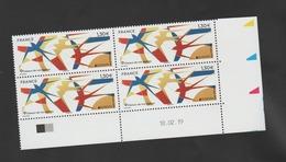FRANCE / 2019 / Y&T N° 5320 ** : Europa (oiseaux De Nos Régions = Hirondelles) X 4 - Coin Daté 2019 02 18 - Coins Datés