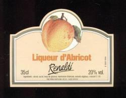 Etiquette  De  Liqueur  D'Abricot  -  Renaldi  -  Prodis Boissons  à Bayeux  (14) - Etiquettes