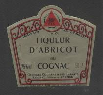 Etiquette De Liqueur D'Abricot Au  Cognac  -  Georges Courant - Etiquettes