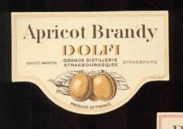 Etiquette De  Brandy à L'Abricot  -  Dolfi  - - Etiquettes