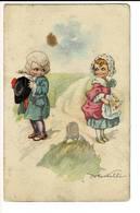 Illus 034 - Garçon Et Fille - Jongen En Mesje - Künstlerkarten