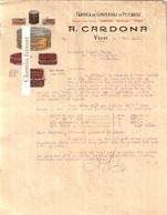 Document Du 06/11/1930 CARDONA Conserves De Poisson - Vigo Espagne - Espagne
