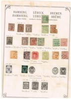 Hambourg + Brême Ancienne Collection Sur Feuille D'époque - Collections (sans Albums)