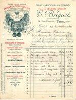 BRIQUET -JEANDEL  Allumettes En Gros, Fabrique De Pipes En Racine   TOUL  54 - 1900 – 1949