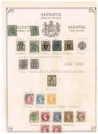Hanovre Ancienne Collection Sur Feuille D'époque - Collections (sans Albums)