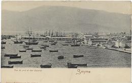 ~  JP  ~   SMYRNE   ~~ . Vue Du Port Et Des Douannes   ~ - Turchia
