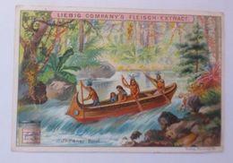 Liebig, Serie 572, Schiffe, Indianer - Boot  ♥  - Indianer