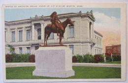 Indianer, Statue Of American Indian, Boston Ca.1920  - Indianer