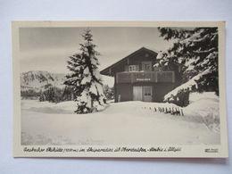 Oberstaufen Steibis, Ansbacher Hütte, Fotokarte 1953  - Ohne Zuordnung