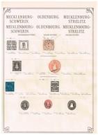 Mecklembourg-Schwerin + Oldenbourg Ancienne Collection Sur Feuille D'époque - Sammlungen (ohne Album)