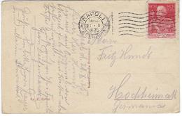 VICTOR-EMMANUEL III N°175 A (dentelés 13,5) Napoli 21 Octobre 1925 Pour Hochheim-am-Main - CP Naples - Used