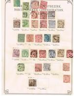 Confédération Du Nord + Alsace Ancienne Collection Sur Feuille D'époque - Collections (sans Albums)