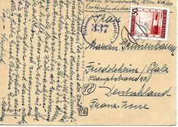 Wien Vers Allemagne 1946 Sur Carte Postal. Censure - Marcophilie - EMA (Empreintes Machines)