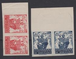 1943 Aniversario Llegada Colon A Barcelona Edifil 49/50** MNH VC 200€ - Barcelona