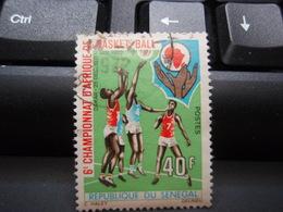 Timbre 6° Championnat D'Afrique De Basket-Ball 40 F 1972 - Used Stamps