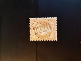 N°21, 10 Cts Bistre,  GC 2220, Marignier, Haute Savoie. - Marcophilie (Timbres Détachés)