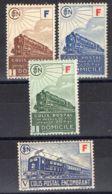 FRANCE (  COLIS POSTAUX ) : Y&T N°  200/203  TIMBRES  NEUFS  AVEC  TRACE  DE  CHARNIERE . - Paquetes Postales