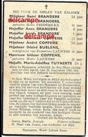 Oorlog Guerre Familie Branders Eppegem Gesneuveld Bombardement Britsche Aanval August 1941 Coppens Buelens - Images Religieuses