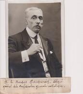 M LE MARQUIS CACQUERAY DELIGE GENERALE CONFÉDÉRATION CATHOLIQUE 18*13CM Maurice-Louis BRANGER PARÍS (1874-1950) - Personalidades Famosas