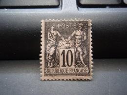 Timbre Sage 10c (type 2) Noir Sur Lilas (Yvert & Tellier – Arthur Maury N°: 89) - 1876-1898 Sage (Type II)