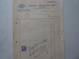 """Fattura  """"C.I.C.A.  Commercio Industria Carta E Affini MILANO"""" 1934 - Italia"""