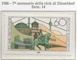 PIA - GER - 1988 - 7° Centenario Della Città Di Dusseldorf  - (Yv 1201) - [7] Repubblica Federale