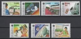 1984. République Du Zaïre. COB N° 1224/30 **, MNH.  Cote COB 2018 : 11 € - Zaire