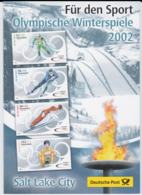 Germany Folder  2002 Salt Lake City Olympic Games Stamps With FDC Cancel (L76-11) - Winter 2002: Salt Lake City
