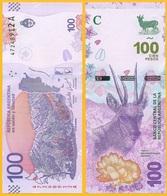 Argentina 100 Pesos P-new 2018 UNC Banknote - Argentinien