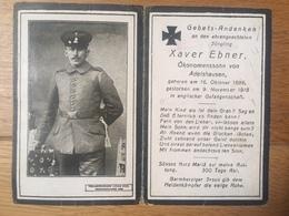 Sterbebild Wk1 Bidprentje Ww1 Avis Décès Deathcard IR25 Englische Gefangenschaft PROYART Block 2 Grab 702 Adelshausen - 1914-18