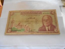 TUNISIE  5  DINARS  BILLET - Tunisia