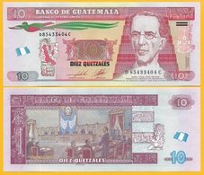 Guatemala 10 Quetzales P-123c 2012 UNC Banknote - Guatemala