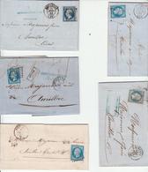 LOT DE 10 LETTRES AVEC N°14 CACHETS PROPRES TBE - 1849-1876: Période Classique