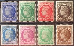 R1615/264 - 1945 - TYPE CERES De MAZELIN - SERIE COMPLETE - N°674 à 681 NEUFS** - France