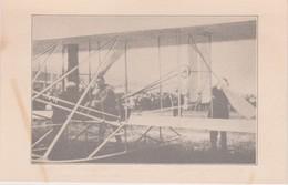 France Black And White Postcard Wright PlaneChecking, A Rare Production, No Description, - Airships