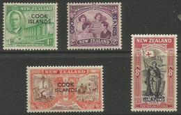 Cook Islands - 1946 New Zealand Overprints MH*  SG 146-9 - Cook Islands
