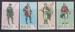 Malta 1987 Military Uniforms 4v ** Mnh (43821) - Malta