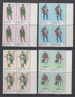 Malta 1987 Military Uniforms 4v Bl Of 4 ** Mnh (43821A) - Malta