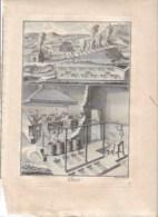 "Métier XVIIIe: ""ALUN "" ( Chimie ),  Grav. Benard Direxit 1784, 22x30 Hors Tout - Stampe & Incisioni"