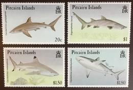 Pitcairn Islands 1992 Sharks MNH - Fishes